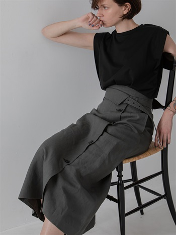 Asymmetry  flared skirt
