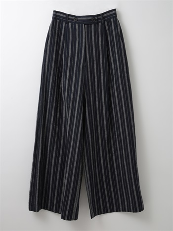 Stripe wide pant